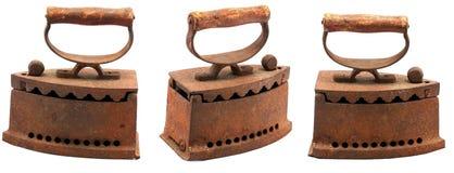El carbón de leña antiguo viste el hierro Foto de archivo libre de regalías