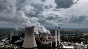 El carbón encendió industria pesada de la central eléctrica RWE Alemania imagen de archivo libre de regalías