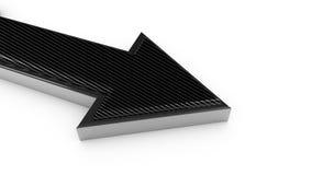 El carbono y la flecha aislada metal 3d rinden Libre Illustration