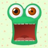 El carácter loco de la rana tiene miedo Imagenes de archivo