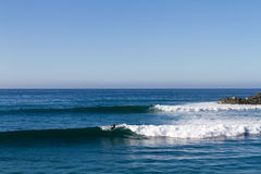 El Cardon Day. Two waves, two surfers. Mexican paradise Stock Image