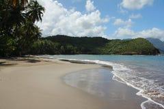 El Caribe abandonó la playa Foto de archivo libre de regalías