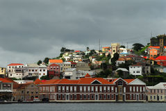 El Caribe bajo el cielo gris Foto de archivo
