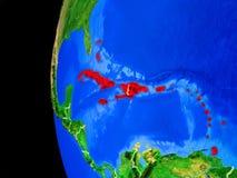 El Caribe del espacio ilustración del vector
