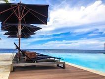 El caribe del hotel se relaja Foto de archivo libre de regalías