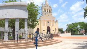 El Carmen Plaza or Parque in Santa Clara,Cuba stock video footage