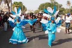 El carnaval anual en la capital en Cabo Verde, Praia. Fotos de archivo