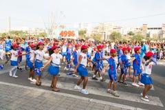 El carnaval anual en la capital en Cabo Verde, Praia. Foto de archivo libre de regalías