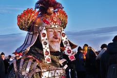 El carnaval de Venecia, retrato de una máscara, durante el carnaval veneciano en la ciudad entera allí es máscaras maravillosas foto de archivo libre de regalías