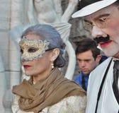 El carnaval de Venecia, retrato de una máscara, durante el carnaval veneciano en la ciudad entera allí es máscaras maravillosas fotos de archivo libres de regalías