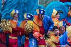 El carnaval 2016 de Viareggio Imagen de archivo libre de regalías