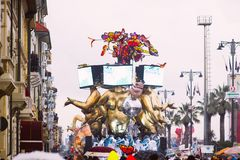El carnaval de Viareggio, edición 2019 imágenes de archivo libres de regalías