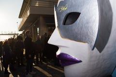 El carnaval de Viareggio, edición 2019 foto de archivo libre de regalías