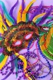 El carnaval emplumado enmascara granos del sombrero del partido Foto de archivo libre de regalías