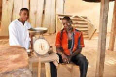 El carnicero en un pueblo Foto de archivo libre de regalías
