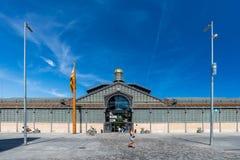 EL carregado no museu de Barcelona imagens de stock royalty free