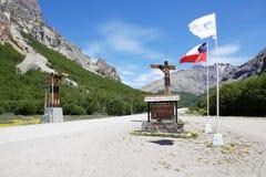 El Carretera austral, Chile foto de archivo libre de regalías