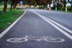 El carril de la bici Imagenes de archivo