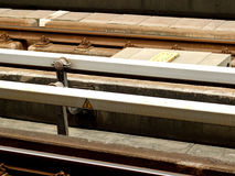 El carril del metro Imagenes de archivo