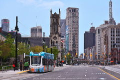 El carril ligero en Detroit comienza Fotografía de archivo