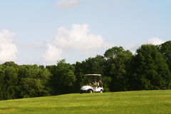 El carro de golf Foto de archivo libre de regalías