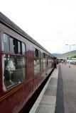 Tren del vapor de Jacobite en la estación de Fort William. fotografía de archivo libre de regalías
