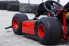 El carro que compite con Imagenes de archivo