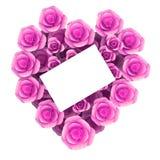 El carte cadeaux indica el día y la floración de la tarjeta del día de San Valentín Fotos de archivo