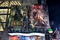 El cartel de película de Hobbit foto de archivo
