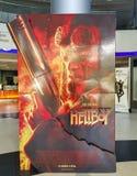 El cartel de película de Hellboy, esta película se basa en la novela gráfica foto de archivo