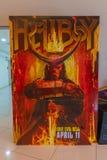 El cartel de pel?cula de Hellboy, esta pel?cula se basa en la novela gr?fica fotografía de archivo