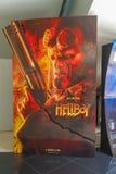 El cartel de pel?cula de Hellboy, esta pel?cula se basa en la novela gr?fica foto de archivo libre de regalías