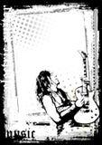 El cartel del guitarrista Fotos de archivo libres de regalías