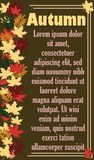 El cartel del otoño imagen de archivo