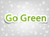 El cartel del vector con las palabras va verde Fotografía de archivo