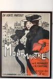 El cartel famoso de Le Chat Noir Fotografía de archivo libre de regalías