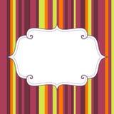 El cartel vacío del cumpleaños en rayas inconsútiles modela el fondo Imagen de archivo