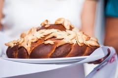 El casarse alrededor del primer del pan Imagen de archivo