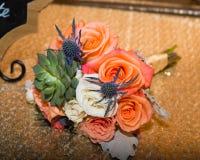 El casarse de las novias bokay foto de archivo libre de regalías