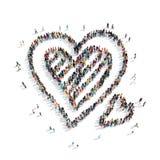 El casarse de los corazones del pan de jengibre de la forma de la gente Fotos de archivo