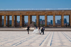 El casarse en AnitKabir Foto de archivo