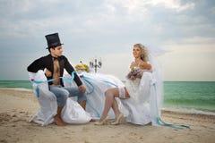 El casarse en la playa Imagen de archivo libre de regalías