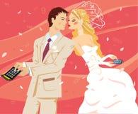 El casarse por el cálculo Foto de archivo libre de regalías