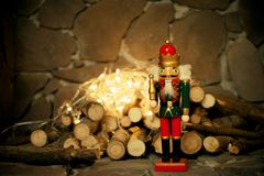 El cascanueces Tarjeta de Navidad juguete Imagen de archivo