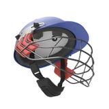El casco azul del grillo aisló el ejemplo 3D en el fondo blanco