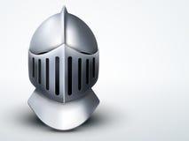 El casco del caballero ligero del fondo Vector stock de ilustración