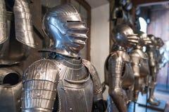 El casco y la armadura Imagenes de archivo