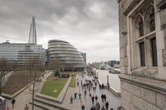 El casco y la ciudad Hall London Fotos de archivo