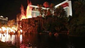 El casino del espejismo en Las Vegas almacen de metraje de vídeo