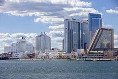 El casino del Showboat, de Taj Mahal y de los centros turísticos en Atlantic City Foto de archivo
